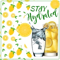 Stay Hydrated, Summer Instagram Post template