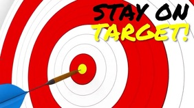 STAY ON TARGET Digitalanzeige (16:9) template