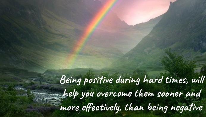 Stay Positive Cartão de visita template