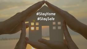 Stayhome, staysafe in panademic crisis. Coronavirus template Pos Twitter