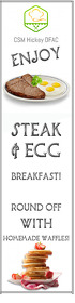 Steak & Egg Transparent 2 stopy × 8 stóp template