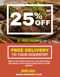 Steak delivery service flyer advertisement