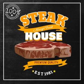 Steak House Bar Flyer for Instagram template