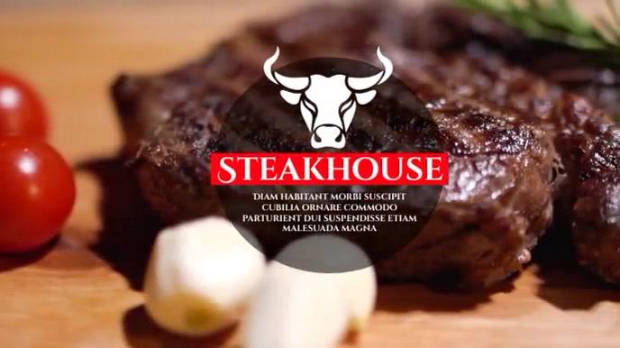 steak house Digital na Display (16:9) template