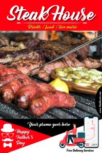 steak house Plakkaat template