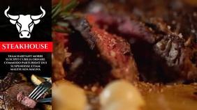steak house Digitale display (16:9) template