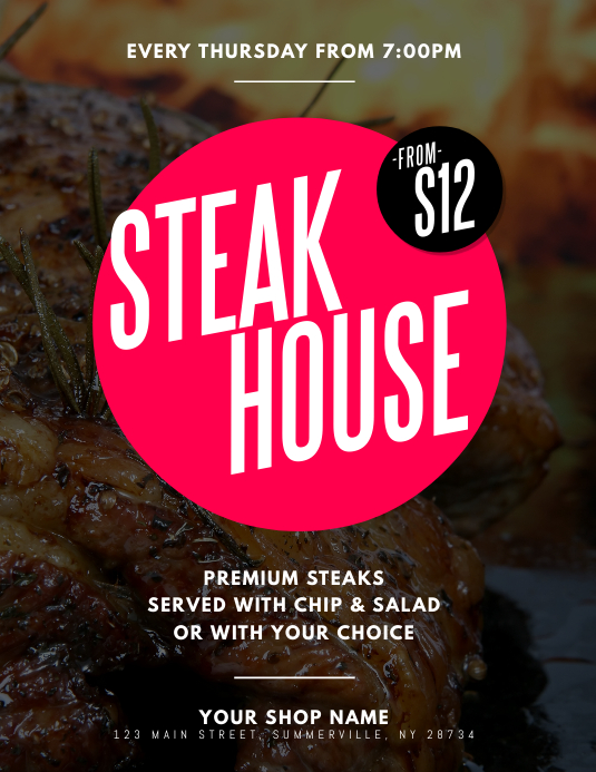 Steak House Flyer