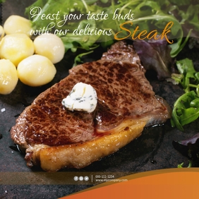 Steak Instagram Post Template