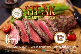 Steak Juicy Loin Fresh Offer Iphosta template