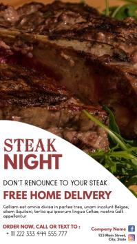 steak night advertisement home delivery servi