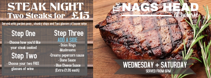 steak night Couverture Facebook template