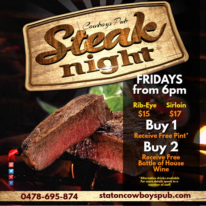 Steak Night Template PosterMyWall