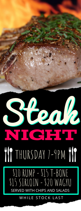 Steak Night Flyer Template