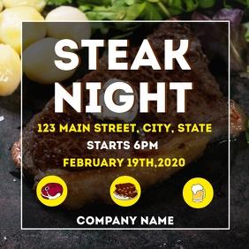 Steak night instagram post advertisement
