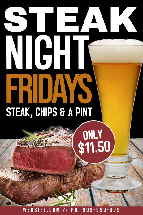 Steak Night Poster