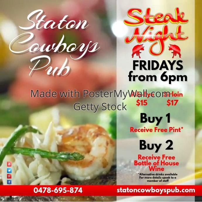 Steak Night Restaurant Video