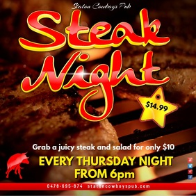 Steak Night Video Advert