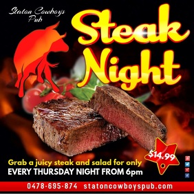 Steak Night Video Template