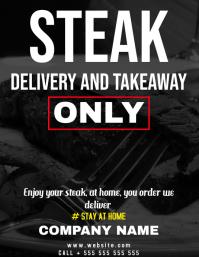 steak restaurant home delivery flyer