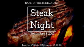 Steakhouse digital display Umbukiso Wedijithali (16:9) template