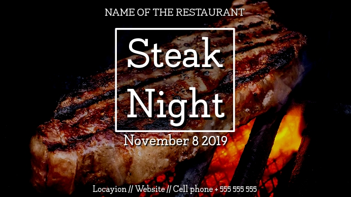 Steakhouse digital display