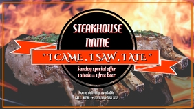 Steakhouse digital display template
