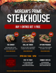 Steakhouse Food Flyer