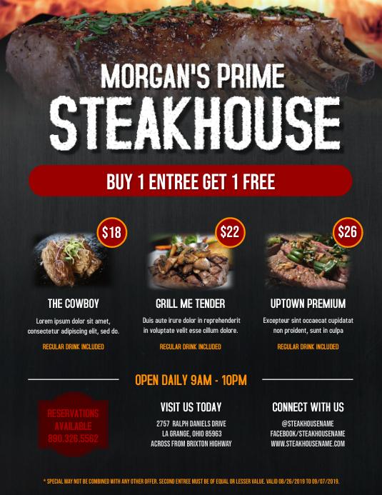 Steakhouse Food Flyer