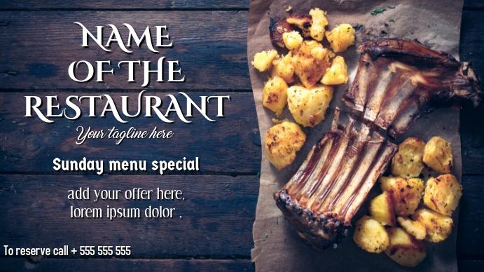 Steakhouse or Restaurant Digital Display