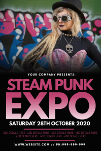 Steam Punk Expo Poster Póster template