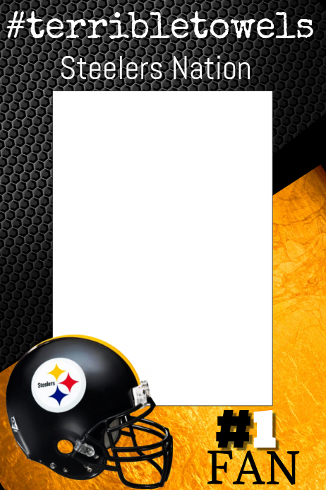 steelers football photo prop frame template