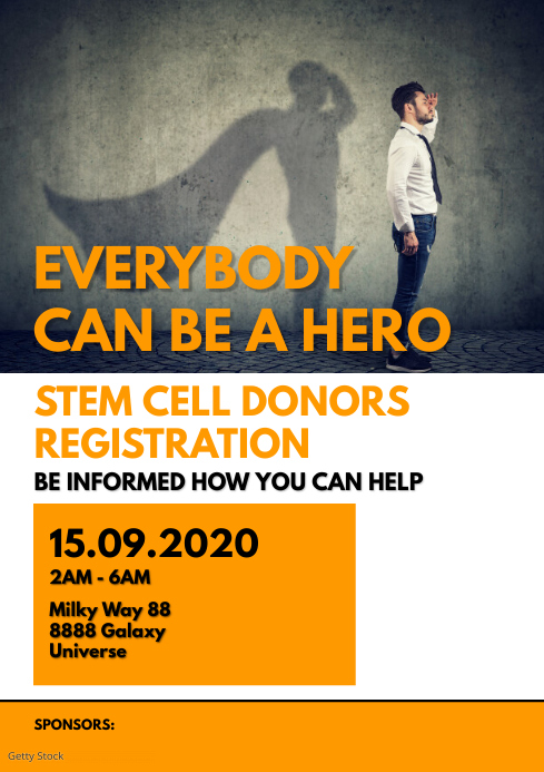 Stem Cell Donation Donors Registration Flyer