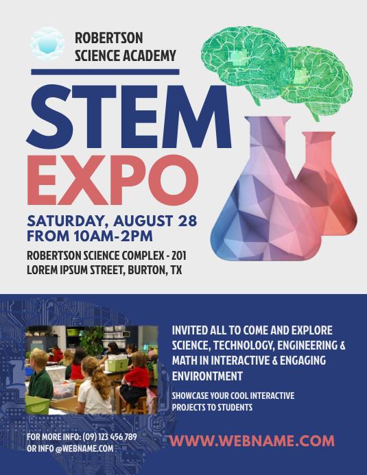 STEM event flyer template