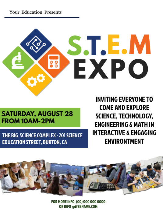 STEM Expo Flyer Template