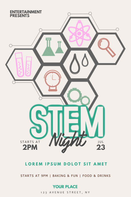 Stem Flyer Template Poster