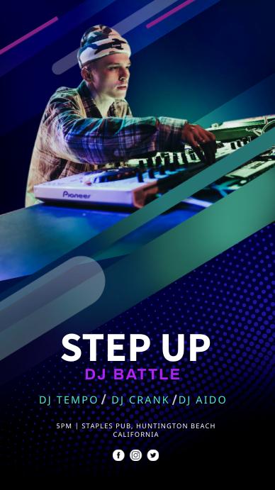 STEP UP DJ BATTLE Instagram Story Instagram-verhaal template