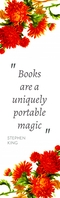 stephen king bookmark quote template design Halbe Seite Legal