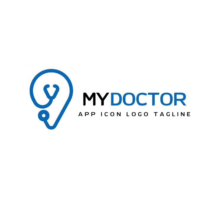 stethoscope logo icon Logotipo template