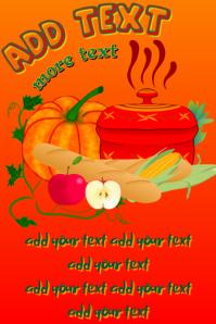pumpkin stew and ingredients - template