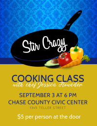 Stir Crazy Cooking Class Volantino (US Letter) template