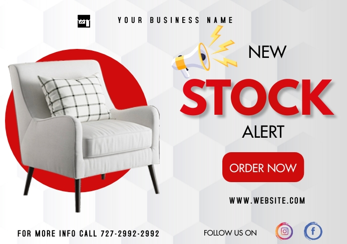Stock Flyer A3 template