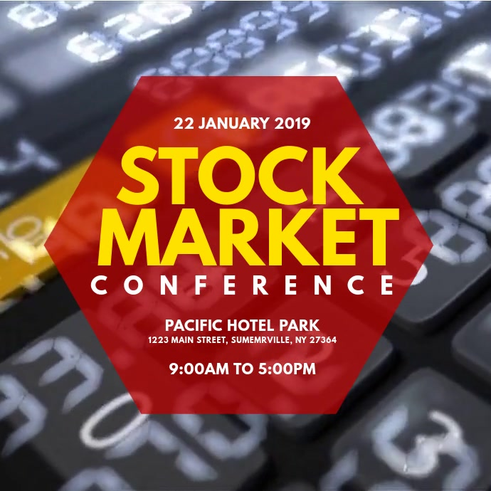 Stock Market Conference Persegi (1:1) template