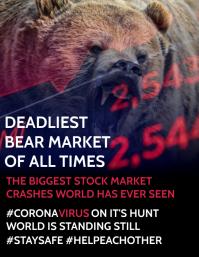 Stock Market Crash Poster Template