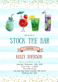 Stock the bar party invitation
