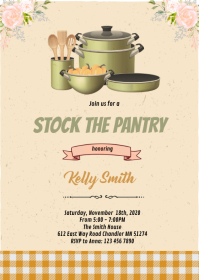 Stock the pantry shower invitation
