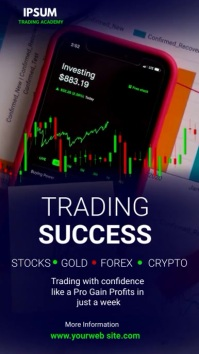 stock trading 数字显示屏 (9:16) template
