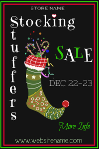 Stocking Stuffer Sale Poster Template