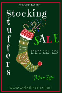 Stocking Stuffers Sale Poster Template