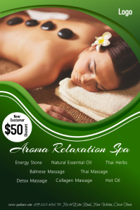 Stone Massage SPA Poster template