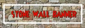 Stone wall banner Баннер 2 фута × 6 футов template